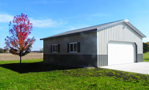Troy built buildings custom built pole barns and metal for 30x36 garage plans